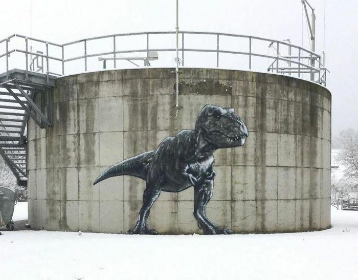 Artista criar grafites que interagem com os arredores (30 fotos) 14