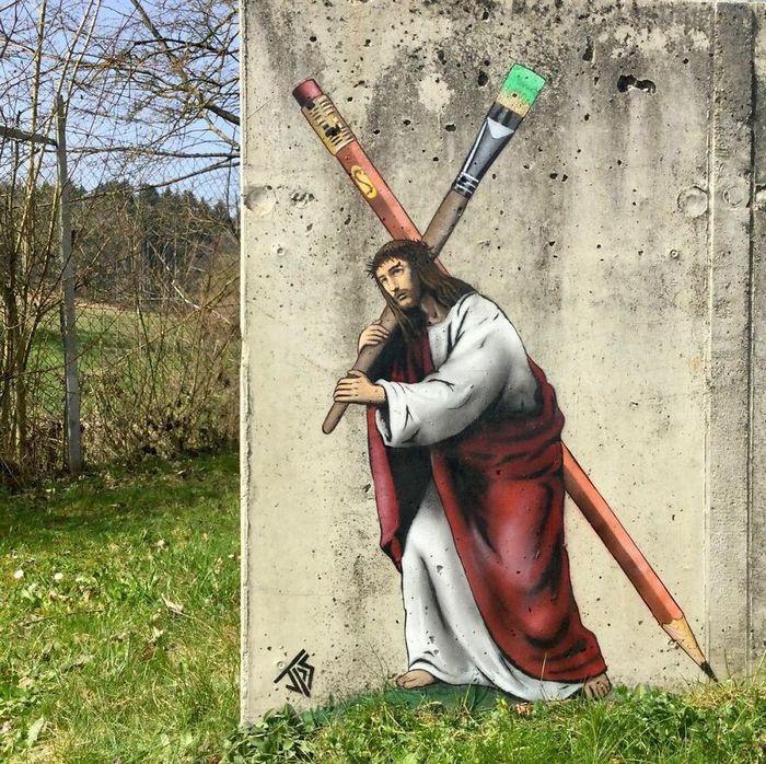 Artista criar grafites que interagem com os arredores (30 fotos) 17