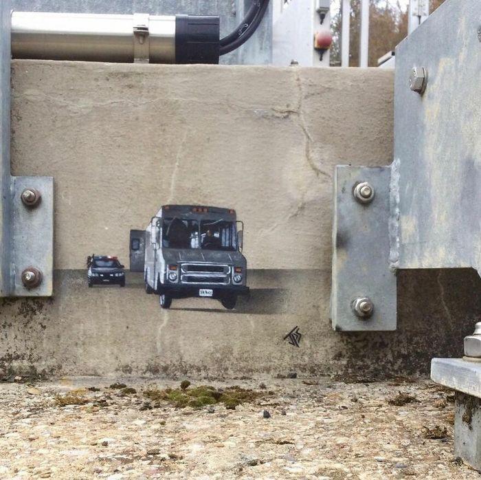 Artista criar grafites que interagem com os arredores (30 fotos) 23