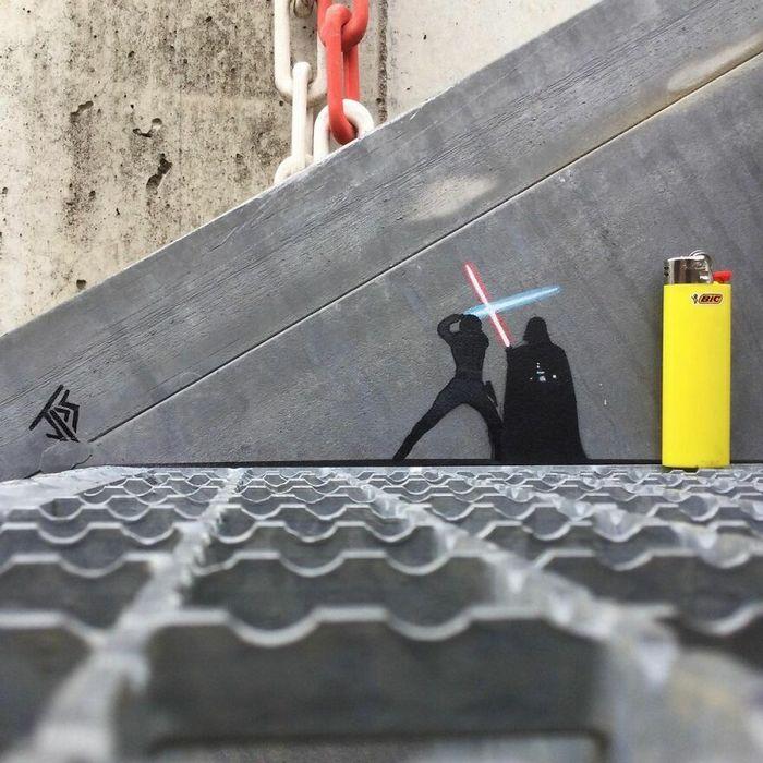 Artista criar grafites que interagem com os arredores (30 fotos) 24