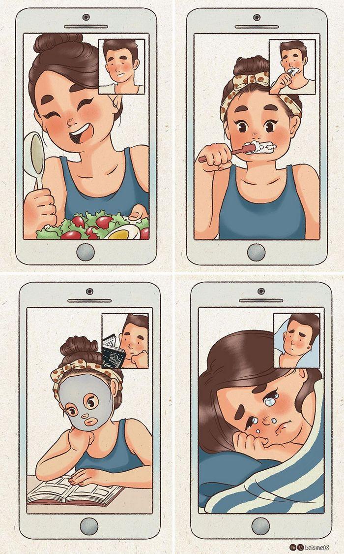 Artista desenha quadrinhos legais sobre estar em um relacionamento (39 fotos) 10