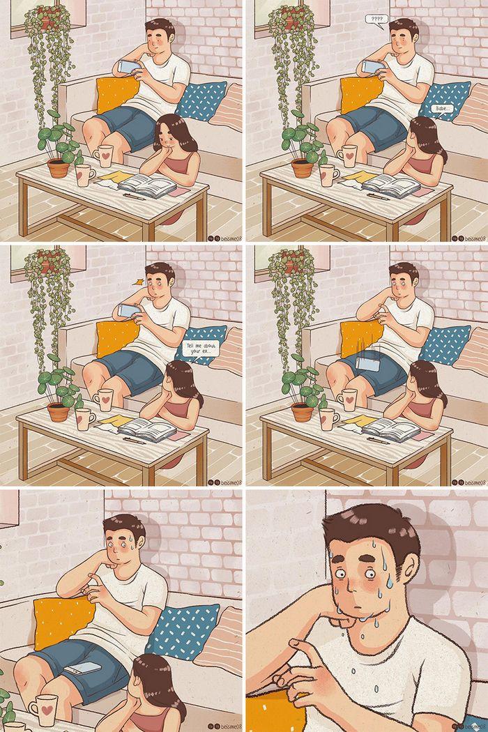 Artista desenha quadrinhos legais sobre estar em um relacionamento (39 fotos) 11