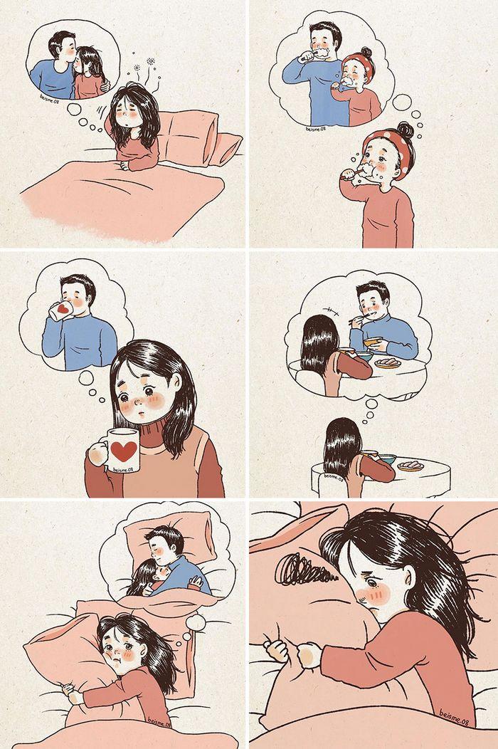Artista desenha quadrinhos legais sobre estar em um relacionamento (39 fotos) 17