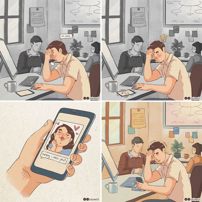 Artista desenha quadrinhos legais sobre estar em um relacionamento (39 fotos) 25