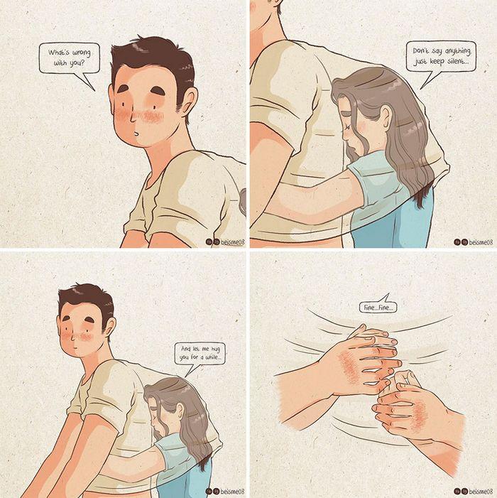 Artista desenha quadrinhos legais sobre estar em um relacionamento (39 fotos) 32