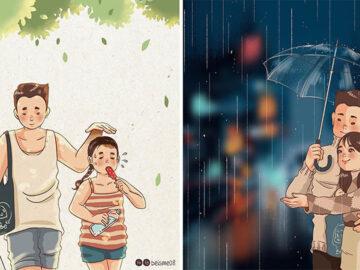 Artista desenha quadrinhos legais sobre estar em um relacionamento (39 fotos) 1