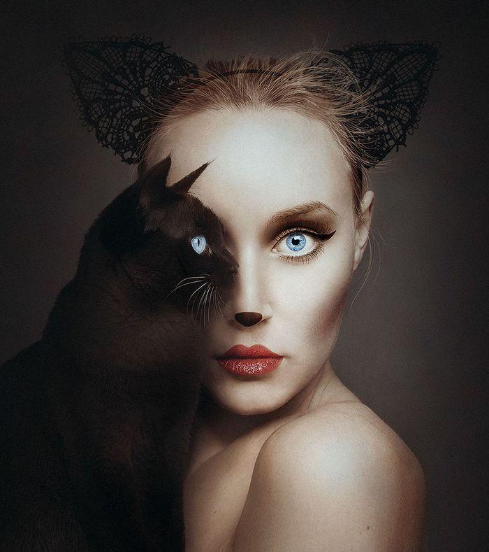 Artista húngara compartilha os olhos dos animais em sua série de auto-retratos (19 fotos) 6