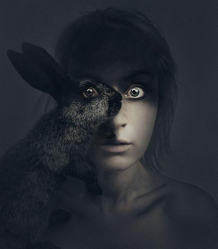 Artista húngara compartilha os olhos dos animais em sua série de auto-retratos (19 fotos) 7
