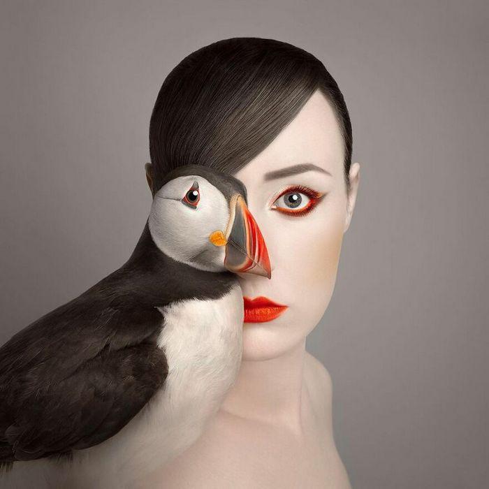 Artista húngara compartilha os olhos dos animais em sua série de auto-retratos (19 fotos) 12