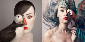Artista húngara compartilha os olhos dos animais em sua série de auto-retratos (19 fotos) 27