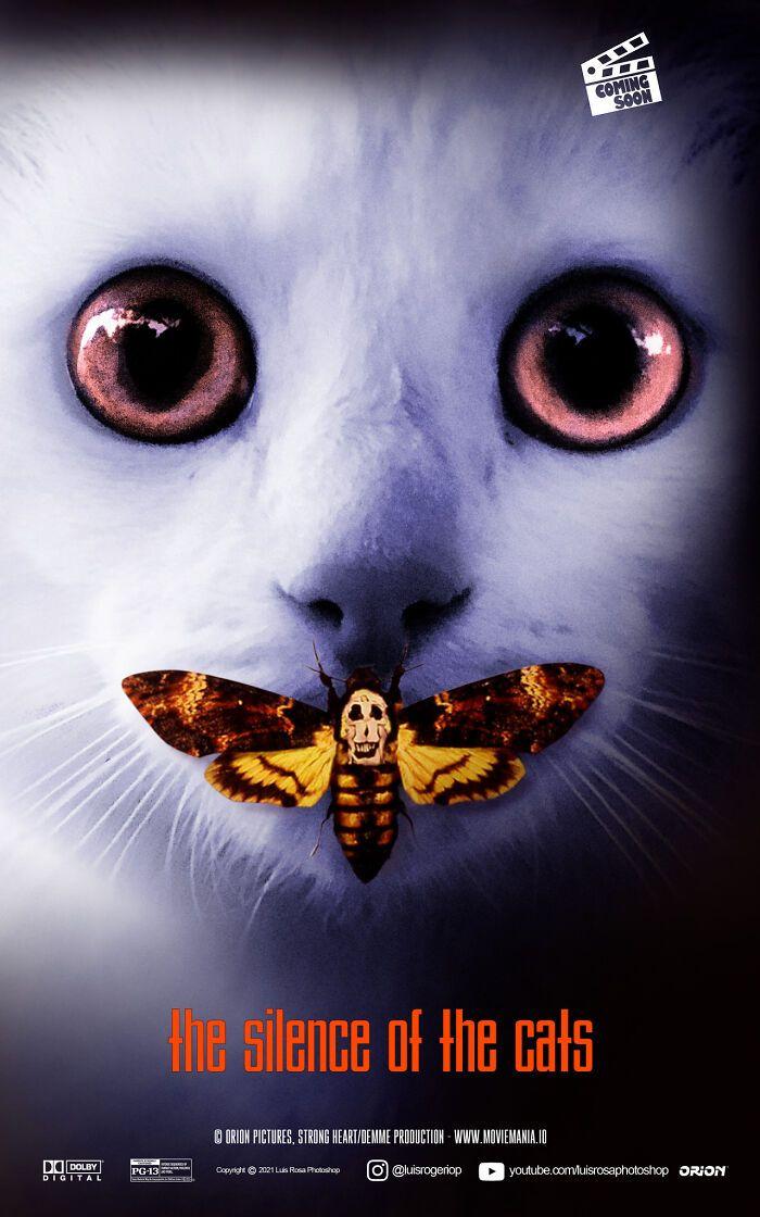 Artista recria pôsteres de filmes e substitui atores por gatos e cães (19 fotos) 2