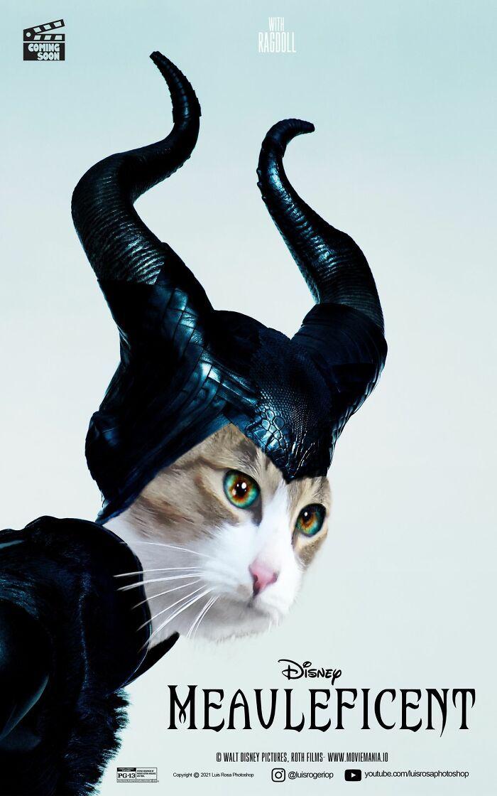 Artista recria pôsteres de filmes e substitui atores por gatos e cães (19 fotos) 19