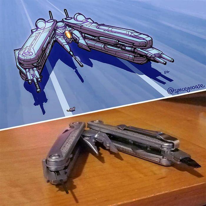 Artista transforma coisas do dia a dia em naves espaciais, e o resultado está fora deste mundo (23 fotos) 2