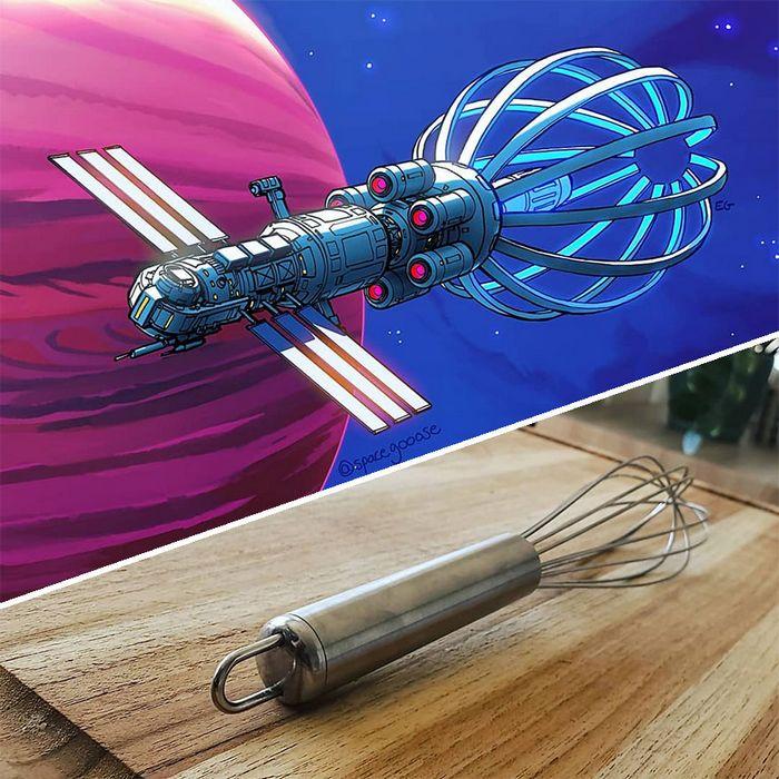 Artista transforma coisas do dia a dia em naves espaciais, e o resultado está fora deste mundo (23 fotos) 14