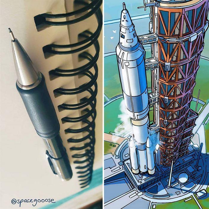 Artista transforma coisas do dia a dia em naves espaciais, e o resultado está fora deste mundo (23 fotos) 24