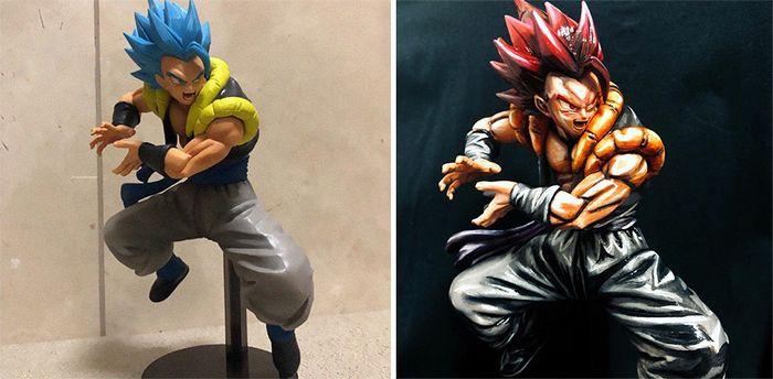 Artista transforma estatuetas em esculturas ultra realistas de personagens de anime (38 fotos) 4