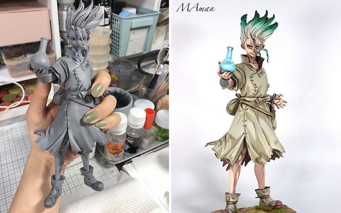 Artista transforma estatuetas em esculturas ultra realistas de personagens de anime (38 fotos) 6