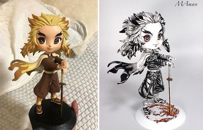 Artista transforma estatuetas em esculturas ultra realistas de personagens de anime (38 fotos) 11