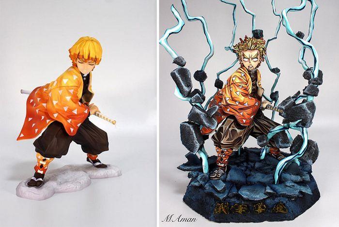 Artista transforma estatuetas em esculturas ultra realistas de personagens de anime (38 fotos) 17