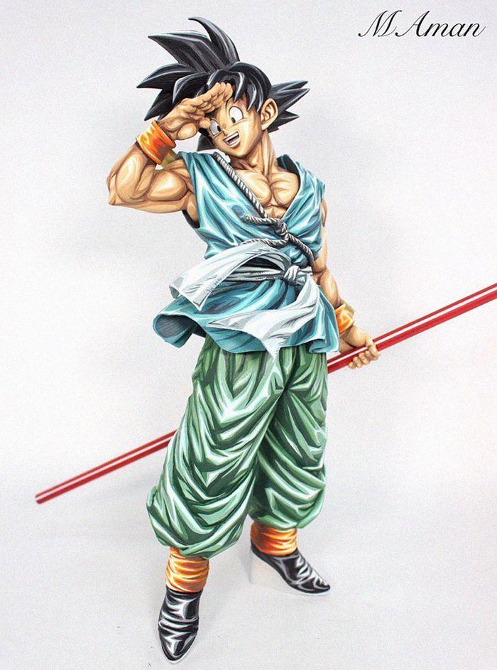 Artista transforma estatuetas em esculturas ultra realistas de personagens de anime (38 fotos) 19