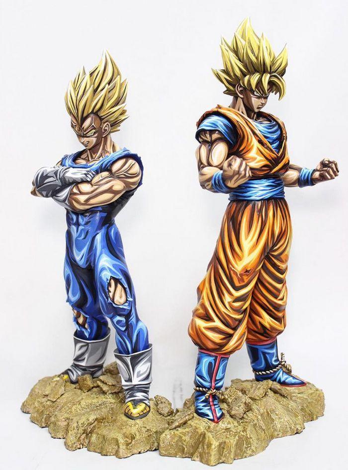 Artista transforma estatuetas em esculturas ultra realistas de personagens de anime (38 fotos) 30