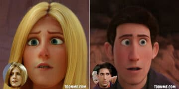 E se os atores de Friends fossem personagens de filme da Disney 56