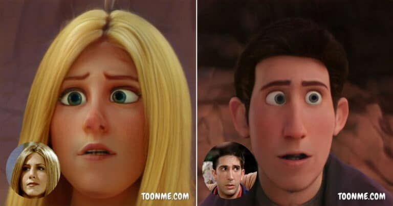 E se os atores de Friends fossem personagens de filme da Disney 1