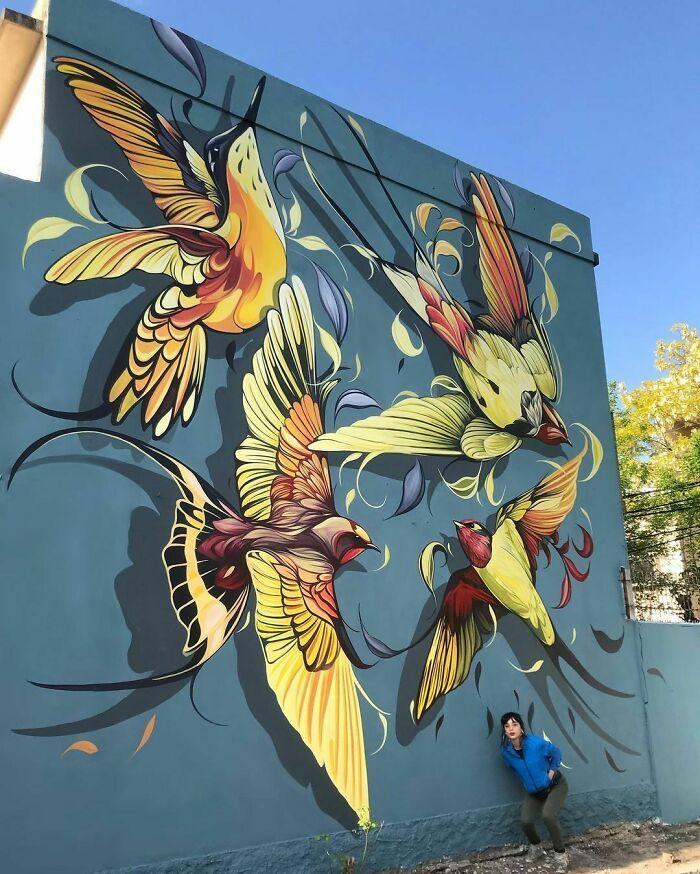 32 edifícios decorados com hipnotizantes murais de vida selvagem 2