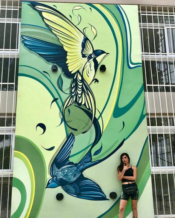 32 edifícios decorados com hipnotizantes murais de vida selvagem 4