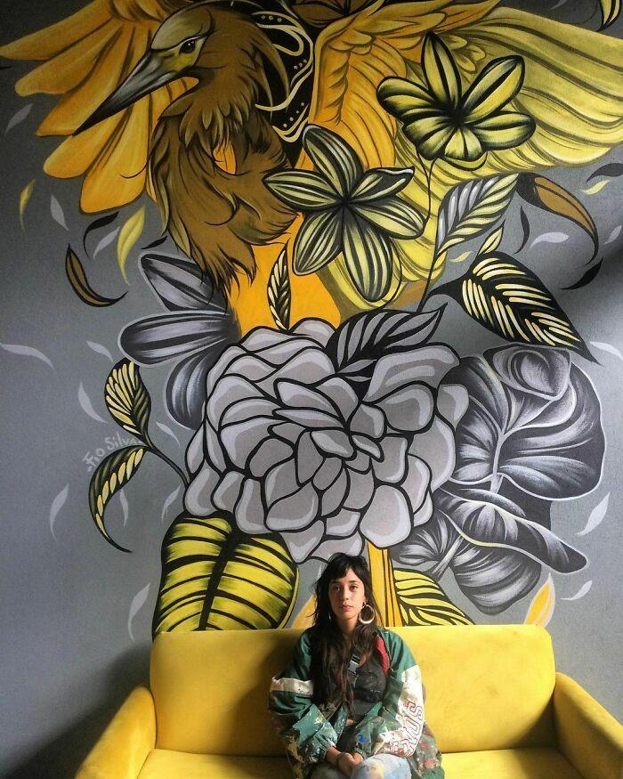 32 edifícios decorados com hipnotizantes murais de vida selvagem 9