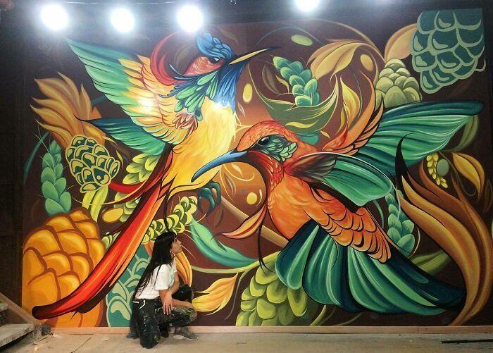 32 edifícios decorados com hipnotizantes murais de vida selvagem 14