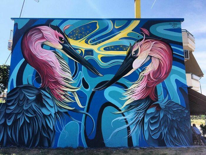32 edifícios decorados com hipnotizantes murais de vida selvagem 16