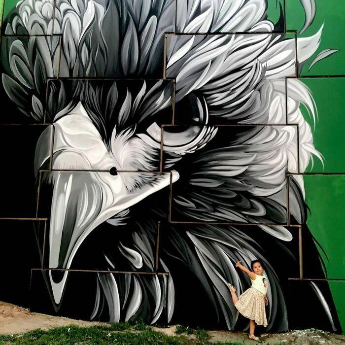 32 edifícios decorados com hipnotizantes murais de vida selvagem 22