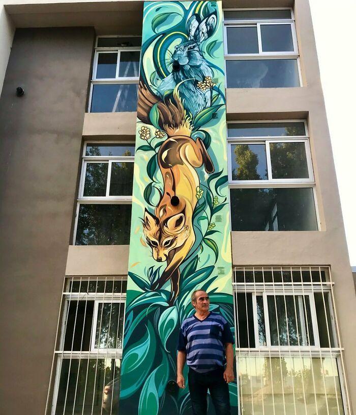 32 edifícios decorados com hipnotizantes murais de vida selvagem 33