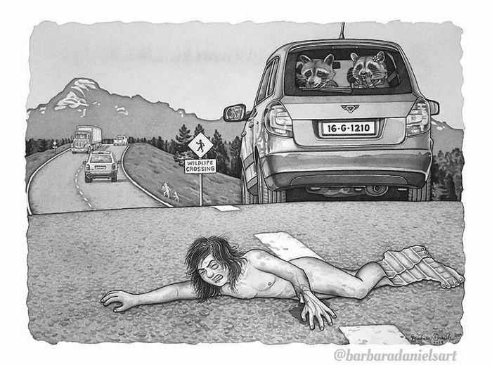 Esta artista critica a maneira como tratamos nosso mundo com suas ilustrações instigantes (40 fotos) 4