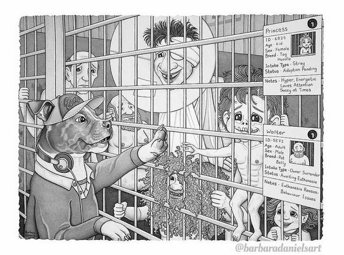 Esta artista critica a maneira como tratamos nosso mundo com suas ilustrações instigantes (40 fotos) 5