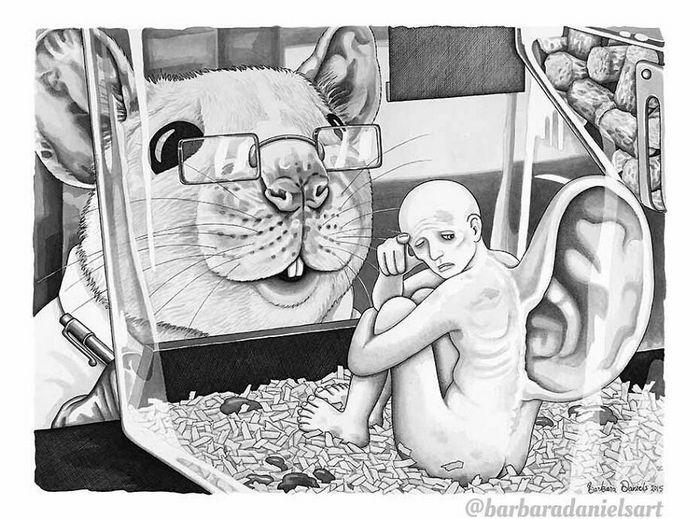 Esta artista critica a maneira como tratamos nosso mundo com suas ilustrações instigantes (40 fotos) 23