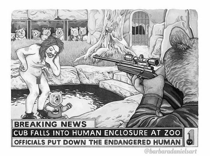 Esta artista critica a maneira como tratamos nosso mundo com suas ilustrações instigantes (40 fotos) 38