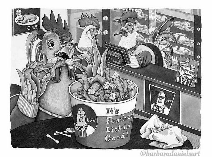 Esta artista critica a maneira como tratamos nosso mundo com suas ilustrações instigantes (40 fotos) 39