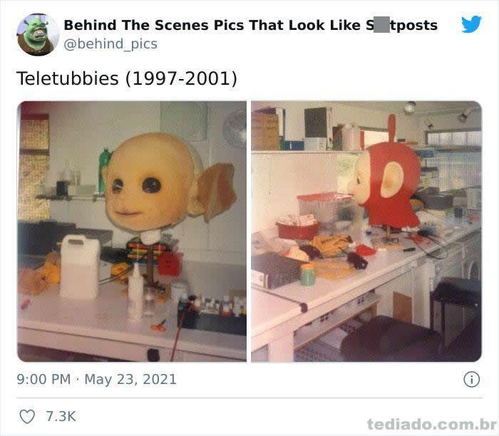 Esta página do Twitter reúne fotos dos bastidores que parecem memes ruins (30 fotos) 7
