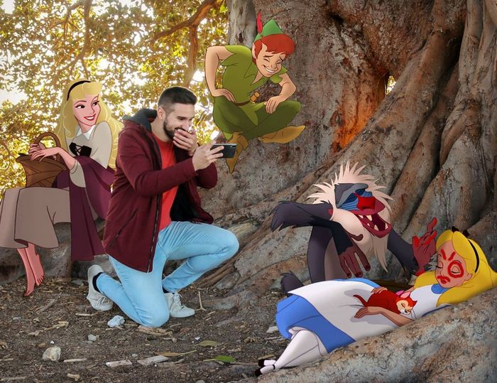 22 fotos de um professor que faz montagens com personagens da Disney, para ver como seria viver com eles 8