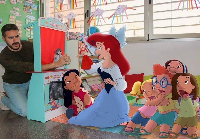 22 fotos de um professor que faz montagens com personagens da Disney, para ver como seria viver com eles 13