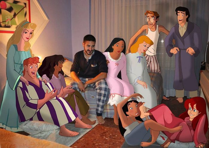 22 fotos de um professor que faz montagens com personagens da Disney, para ver como seria viver com eles 15