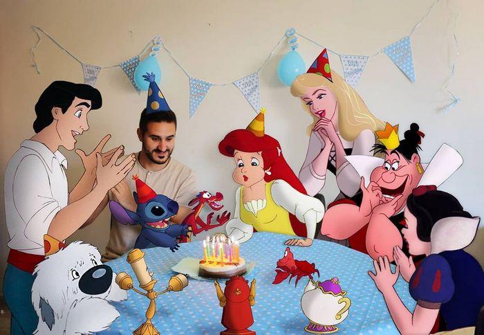 22 fotos de um professor que faz montagens com personagens da Disney, para ver como seria viver com eles 16