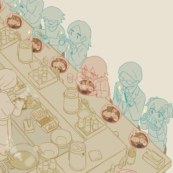 40 ilustrações poderosas de um artista japonês que o farão pensar 27