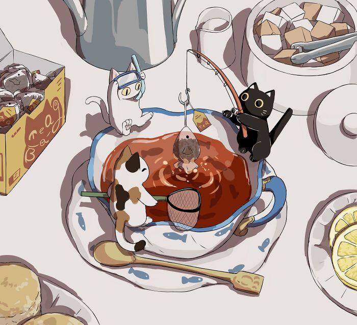 40 ilustrações poderosas de um artista japonês que o farão pensar 41