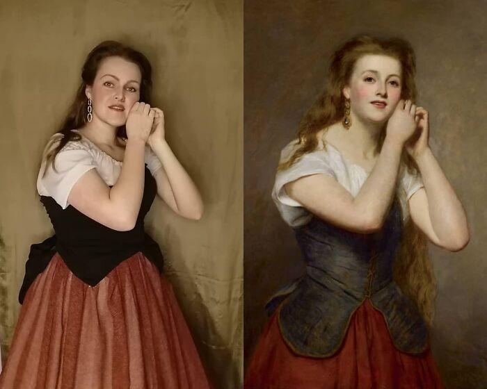 Mulher recria obras de arte com detalhes incríveis (42 fotos) 8