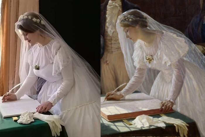 Mulher recria obras de arte com detalhes incríveis (42 fotos) 12