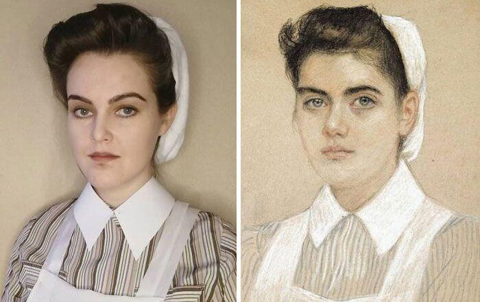 Mulher recria obras de arte com detalhes incríveis (42 fotos) 26