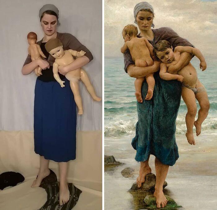 Mulher recria obras de arte com detalhes incríveis (42 fotos) 28